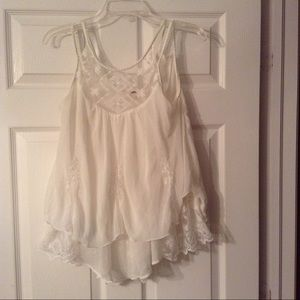 Gorgeous Sheer Off White Poof Babydoll Top