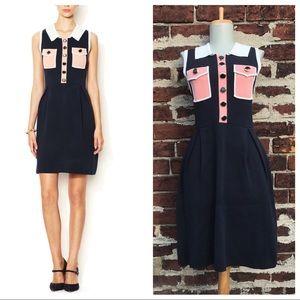 NWT Orla Kiely 2 Retro Colorblock Milano Dress Mod
