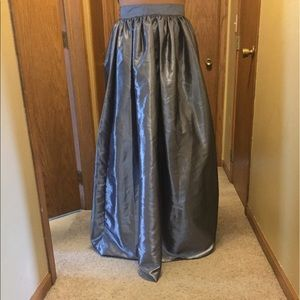 NEW Metallic Maxi Skirt