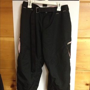 Nike fit dry pants black and pink belt medium new