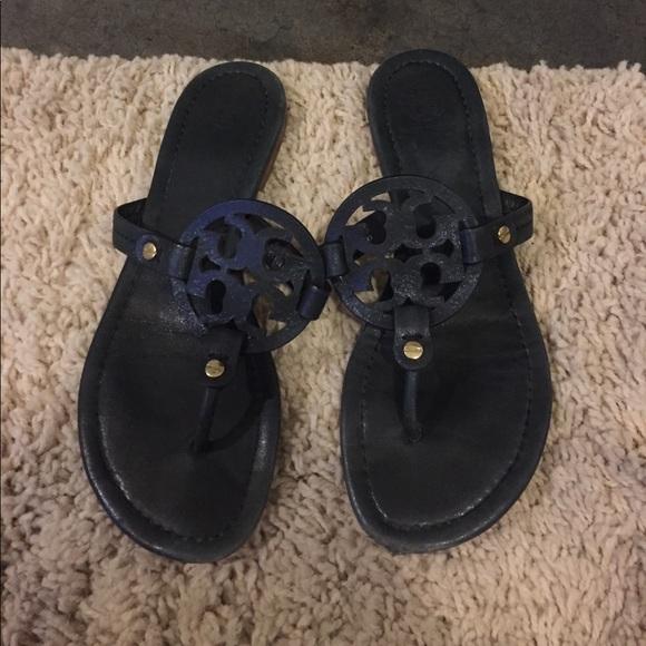 bf985b11331 Navy Tory Burch Miller Sandals. M 591f98672ba50ad69001d4b1