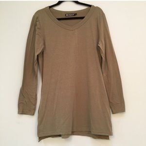 Allegra K Tops - Olive long sleeve tunic top