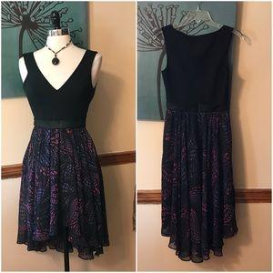 Black Halo Dresses & Skirts - Black Halo black printed high low dress
