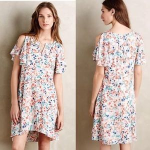 🆕 Anthropologie MAEVE Fluttered Watercolor Dress