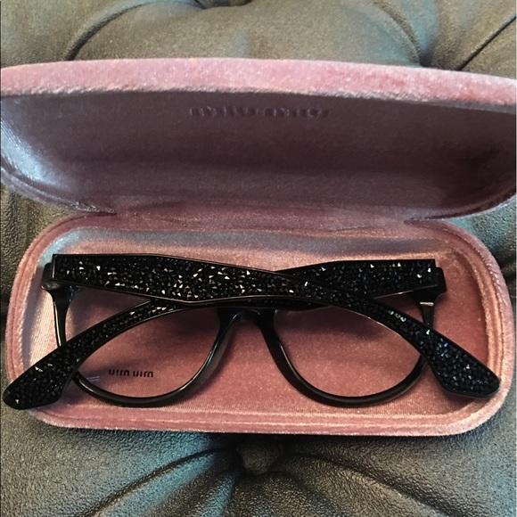 7b105c9aed1 Miu Miu cat eye Swarovski eye glasses. M 591f9a3a6d64bcfbeb01d9b8