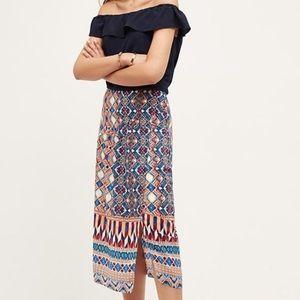 Anthropologie Dresses & Skirts - {anthropologie} colorful patterned silk skirt