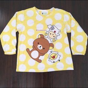 Sanrio Tops - Rilakkuma long sleeve flannel top