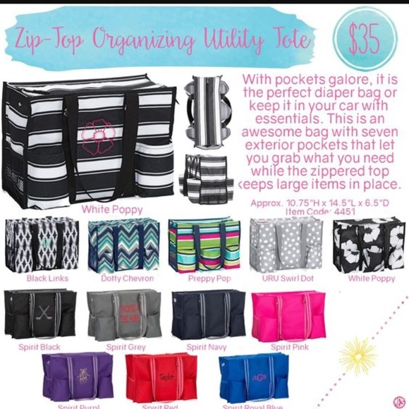 Thirty One Bags Thirtyone Ziptop Organizing Tote Side Pouch Poshmark