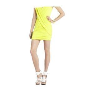 BCBGMAXAZRIA Alondra Draped Crossover V-neck Dress