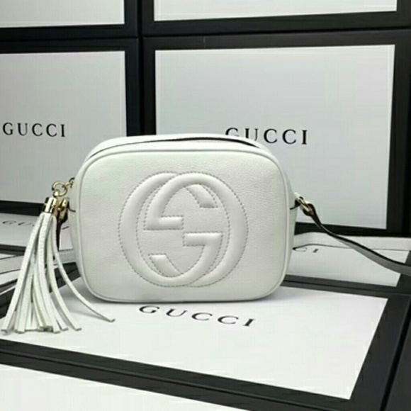 41d8cfefed075 34% off Gucci Handbags - Gucci Soho Leather Disco Bag in White from Haus de