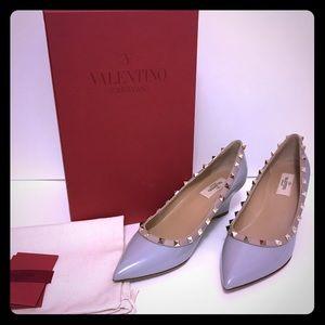 Valentino Shoes - Valentino Rockstud Grey Wedges