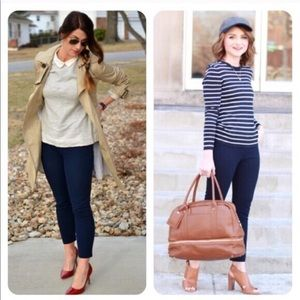 {J.Crew} Minnie Pants in Navy Blue