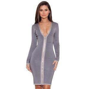 house of CB Dresses & Skirts - Gray House Of CB 'Araja' bandage dress