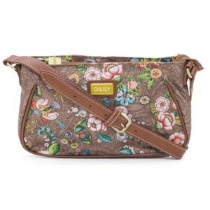 Oilily Handbags - NWT Oilily floral cross body bag in tobacco