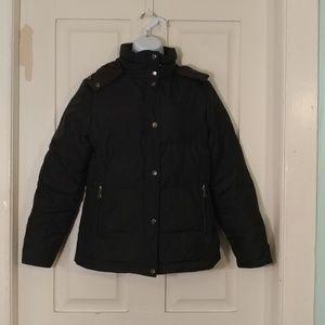 Larry Levine black puffer coat