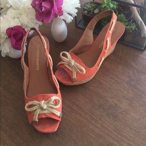 Franco Sarto Shoes - 🎉HP🎉Franco Sarto peep toe wedges sz 8.5