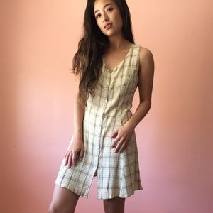 Vintage Dresses & Skirts - Vintage Plaid Summer Dress