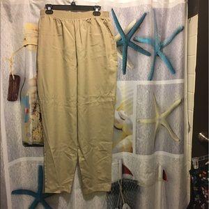 Apparenza Pants - Apparenza Women's Tan Elastic Waist Pants size 20W