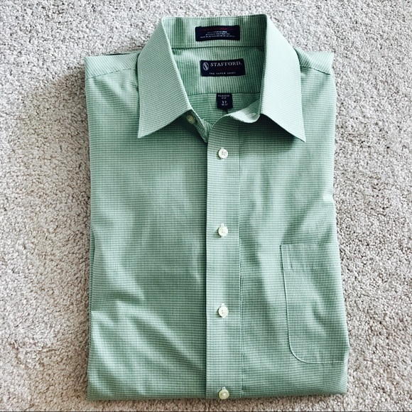 81 off stafford other stafford green check dress shirt for Where to buy stafford dress shirts