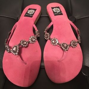 Pink sandals light pink Crystals