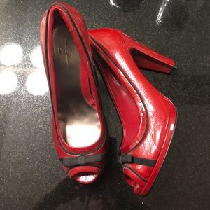Paolo Pecora Shoes - Patent leather red heels with bow