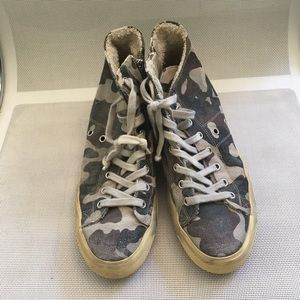 Leather Crown Shoes - Leather crown camouflage sneakers