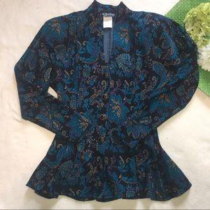All That Jazz Jackets & Blazers - Vintage 80's floral peplum blazer made in USA