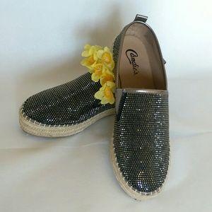 Candie's Shoes - NWOB Candie's Sparkle Espadrilles