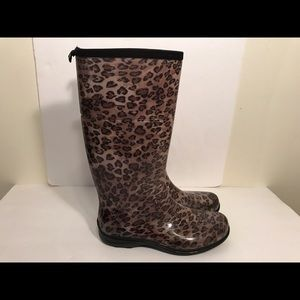 Kamik Shoes - Kamik Kenya size 9 leopard cheetah brown rain boot