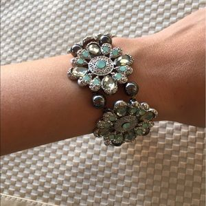 Cookie Lee Jewelry - Cookie Lee turquoise flower bracelet