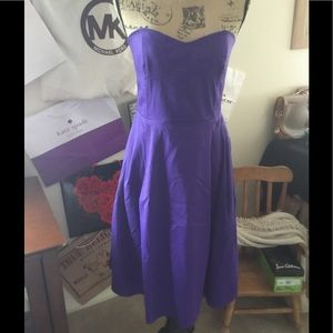 Calvin Klein strapless purple cocktail dress Sz 12