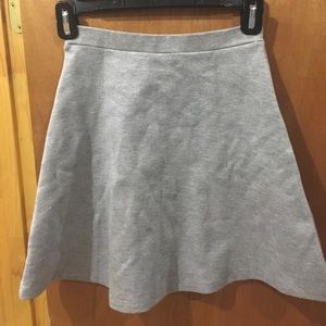 grey american apparel circle skirt