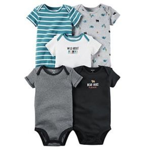 Carter's Other - Baby Boy Carter's 5Pk Embroidered/Stripe Bodysuits