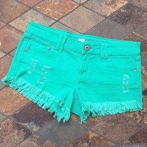 Blue Asphalt Pants - 🆕 Blue Asphalt | Green Denim Shorts