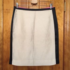J. Crew Dresses & Skirts - J. Crew SILK blend Color Block Pencil Skirt EUC