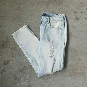 Rue21 Denim - Light white acid denim wash ripped skinny jeans