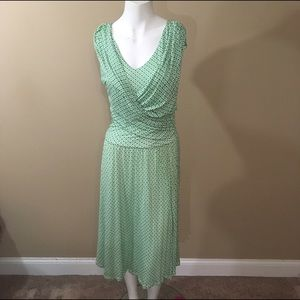 Charter Club Dresses & Skirts - Green and white charter club dress