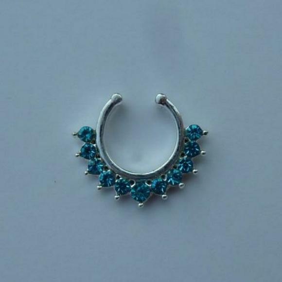 Jewelry New Blue Fake Septum Ring Blue Fake Nose Ring Poshmark