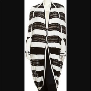 L.A.M.B. Sweaters - L.A.M.B. Striped Cocoon Cardigan