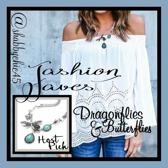 Boutique Jewelry - Gardenia Butterfly Statement Necklace