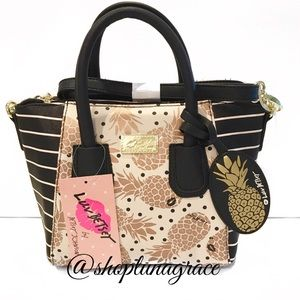 Betsey Johnson Handbags - 🆕 Betsey Polka Dot Pineapple Small Bag