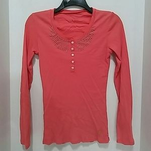 Calvin Klein Jean Orange Long Sleeves Size S