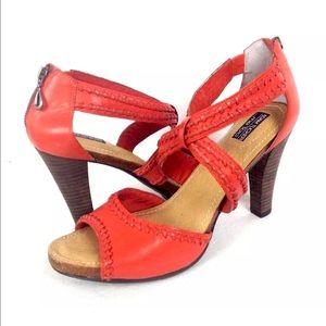 Adam Tucker Shoes - Me Too Adam Tucker Orange Strappy Heels 11