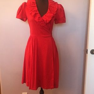 Red Wrap Diane Von Furstenberg dress
