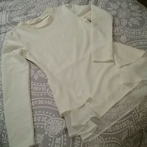 sheinside Tops - OFF-WHITE BLOUSE