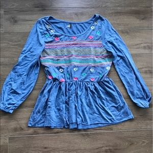 Poof! Tops - Poof floral Aztec top blouse