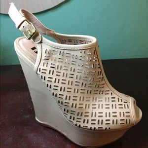 School Issue Shoes - White wedges!!