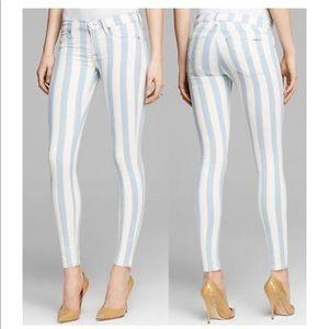 Hudson Krista Super Skinny Striped Skinny Jeans