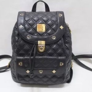 MCM Handbags - Auth MCM Germany Leather backpack