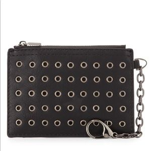 Neiman Marcus Accessories - Neiman Marcus Grommet Faux Leather Coin Purse